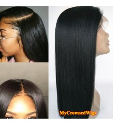 Hot Sale---Yaki Straight 360 Lace Wig Brazilian Virgin human Hair [MCW362]