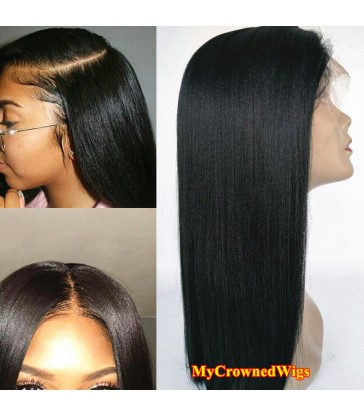 Brazilian virgin light yaki 360 silk top frontal wig -[MCW362]