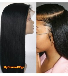 Brazilian virgin light yaki 360 silk top frontal wig -[MCW362]