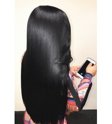 50% OFF---180% density 360 Lace Wig Yaki Straight Brazilian Virgin human Hair [MCW362]