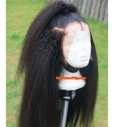 180% density HD Lace Kinky Straight Brazilian virgin full lace wigs [HD005]
