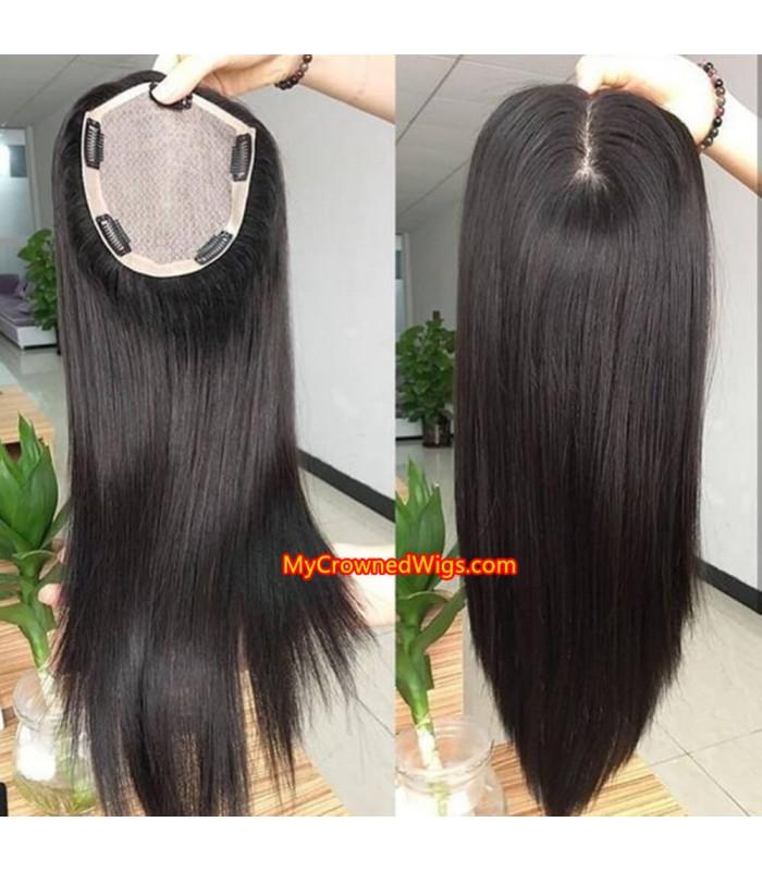 Silk top topper PU around hair [tp001]
