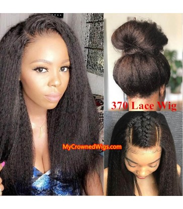New 370 lace front human hair wig pre plucked with baby hair long deep parting【MCW372】