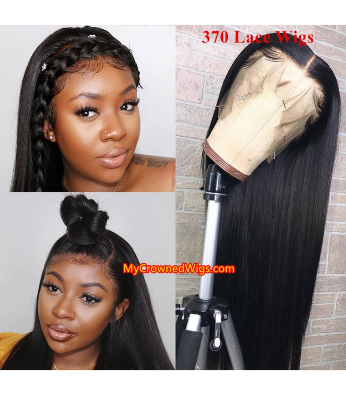 New 370 lace front human hair wig pre plucked with baby hair long deep parting【MCW370】