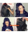 Body wave 370 lace front human hair wig pre plucked with baby hair long deep parting【MCW373】