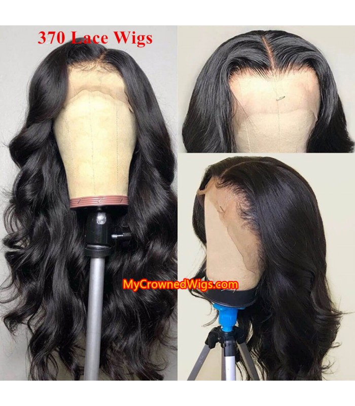 New 370 lace front human hair wig pre plucked with baby hair long deep parting【MCW374】