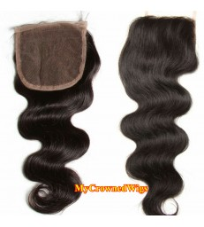brazilian virgin body wave 4*4 lace closure--[MCW903]