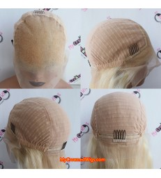 13x6 613 Blonde Brazilian Straight Human Hair lace front Wigs 【MCW444】
