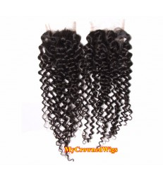 brazilian virgin curly  4*4 lace closure--[MCW904]