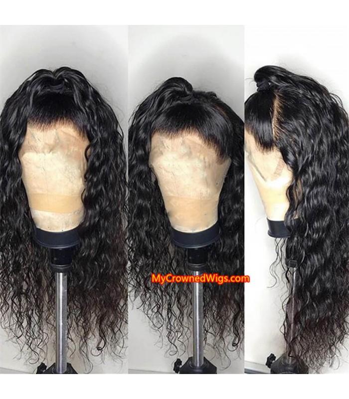 Brazilian virgin loose deep wave 360 silk top frontal wig -[MCW341]