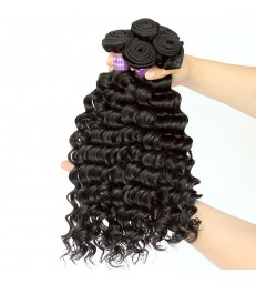 Brazilian virgin deep wave 8A grade weft--[MCW906]
