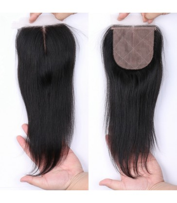 brazilian virgin silk straight silk based closure--[MCW912]