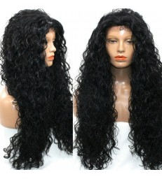 Brazilian virgin kinky wave 360 frontal 200% density wig -[MCW366]