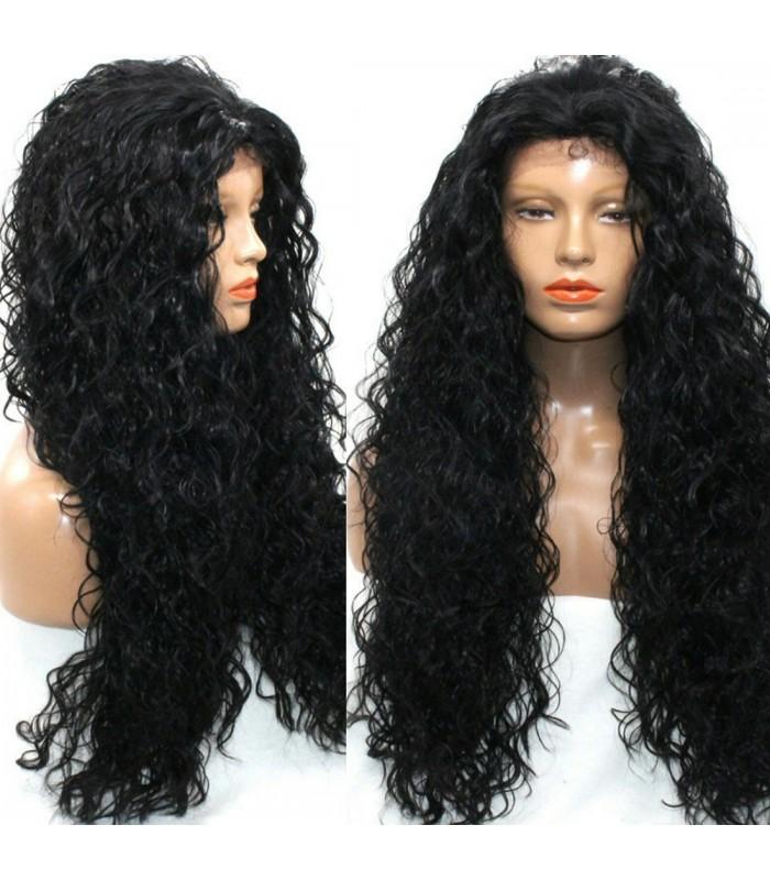 Brazilian virgin kinky wave 360  frontal 200% density wig -[MCW366]