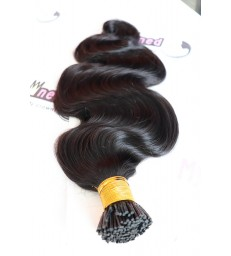 Brazilian virgin microlink I TIPS hair extensions 【MCW927】