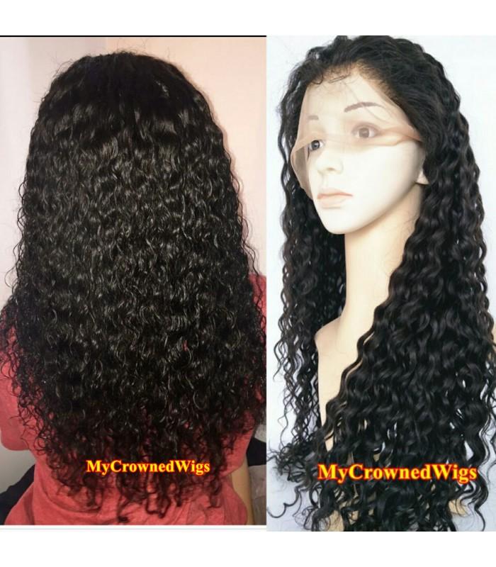 Brazilian virgin wet wave bleached knots full lace wig-[mcw299]