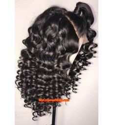 Brazilian virgin spanish wave 360 frontal wig -[MCW346]
