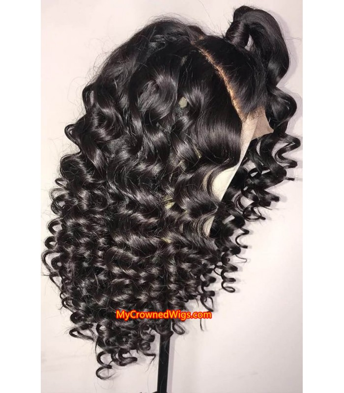 Brazilian virgin spanish wave 360 frontal wig -[MCW346]