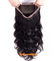 Brazilian virgin body wave 360 lace frontal--[MCW915]