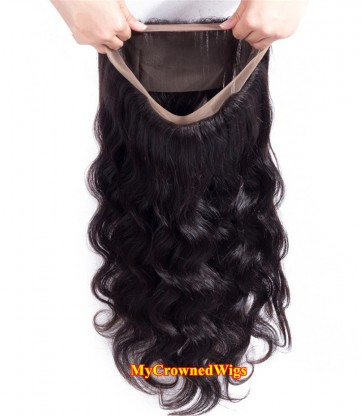 Brazilian virgin body wave 360 lace frontal--[MCW915]