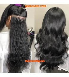 Brazilian virgin microlink I TIPS hair extensions 【MCW927】