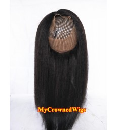 Brazilian virgin italian yaki 360 lace frontal--[MCW917]