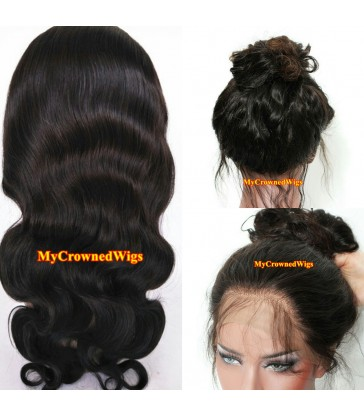 Brazilian virgin body wave 360 silk top frontal wig -[MCW367]