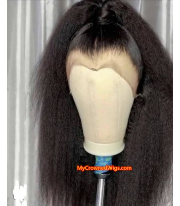 Kinky Straight 360 Frontal Wig With Baby Hair Brazilian virgin Hair [MCW361]