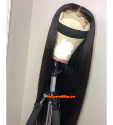 Pre-plucked 4''*4'' Closure Straight Lace Front Wig Virgin Human Hair [lc003]]