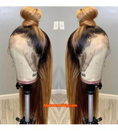 brazilian virgin light yaki ombre colored full lace wig--[MCW401]