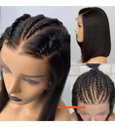 Straight bob Lace Front Wig Pre-Made Fake Scalp [fs002]