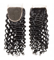 brazilian virgin deep wave 4*4 lace closure--[MCW918]