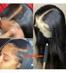 Brazilian Virgin Straight Glueless Silk Top 13*6 Lace Front Wig [LFS001]