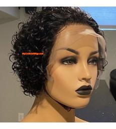 Pixie Cut Lace Wig Preplucked Blunt Cut Bob Lace Front Wigs [pc001]
