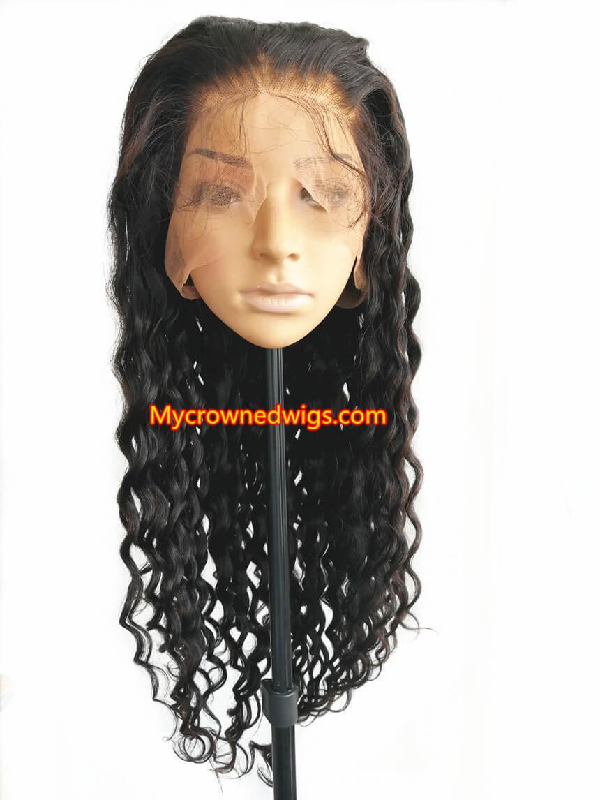 Loose Deep Wave 360 Frontal Wig 150 Density Brazilian